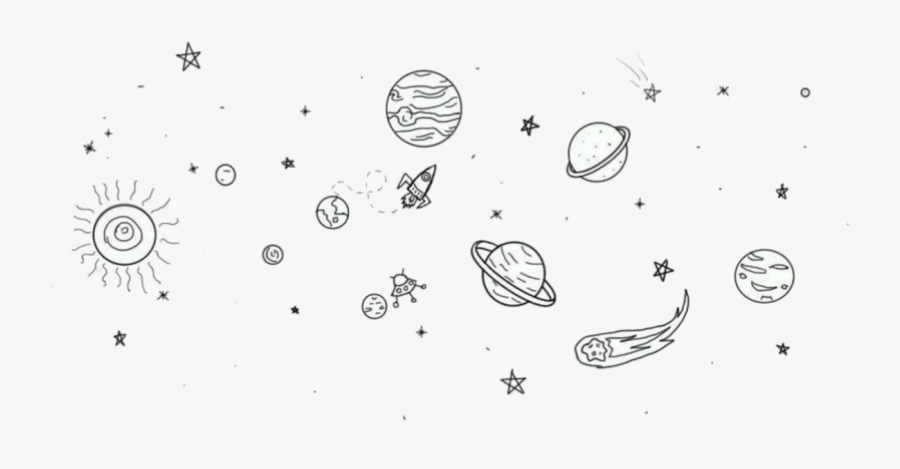 Transparent Galactic Starveyors Clip Art - Simple Space Tattoo Drawings, Transparent Clipart
