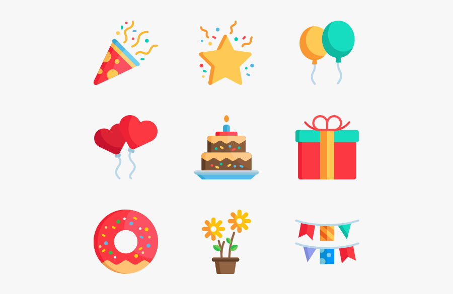 Celebrations - Happy Birthday Icon Png, Transparent Clipart