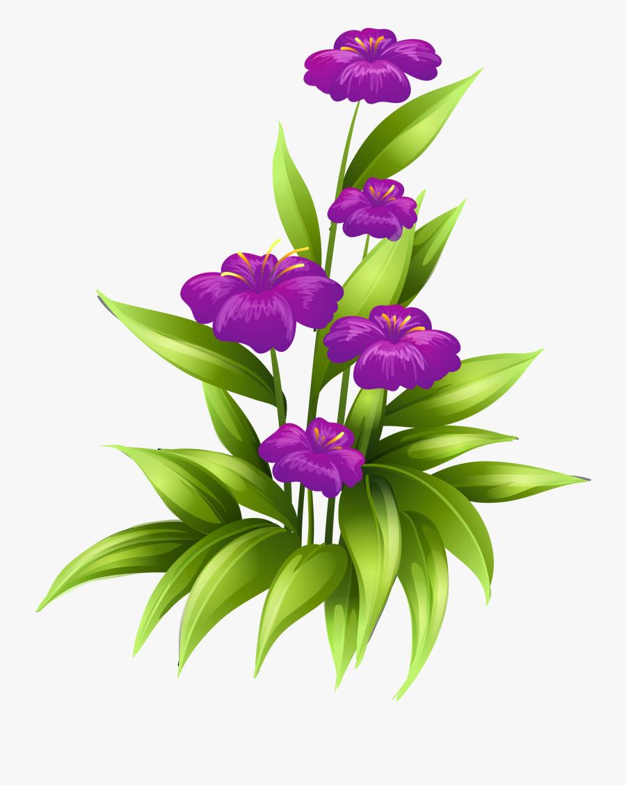 Purple Flowers Clipart Border Clipartxtras - Purple Flowers Clip Art Border, Transparent Clipart