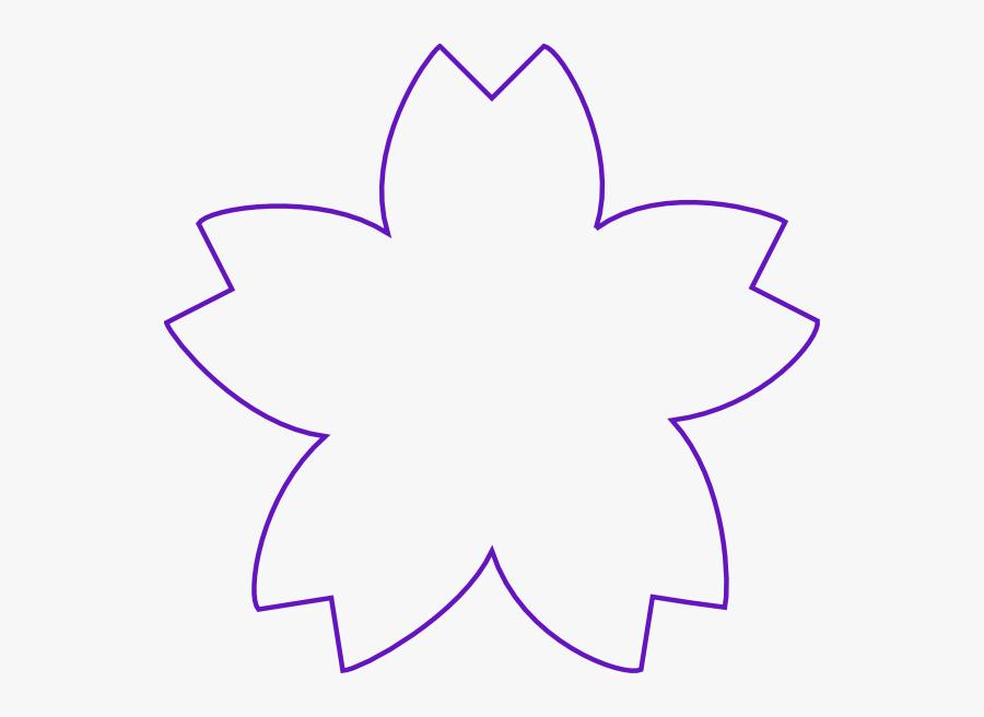 Flower Shape Purple Clip Art At Clker - Shape Of A Flower, Transparent Clipart