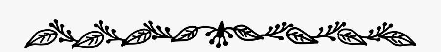 Flower Line Border Transparent, Transparent Clipart