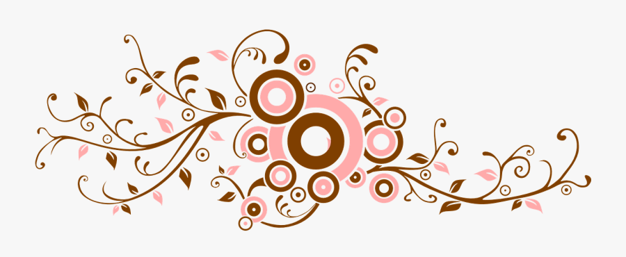 Floral Leave Border Clip Art At Clker Com - Vector Swirl Png, Transparent Clipart