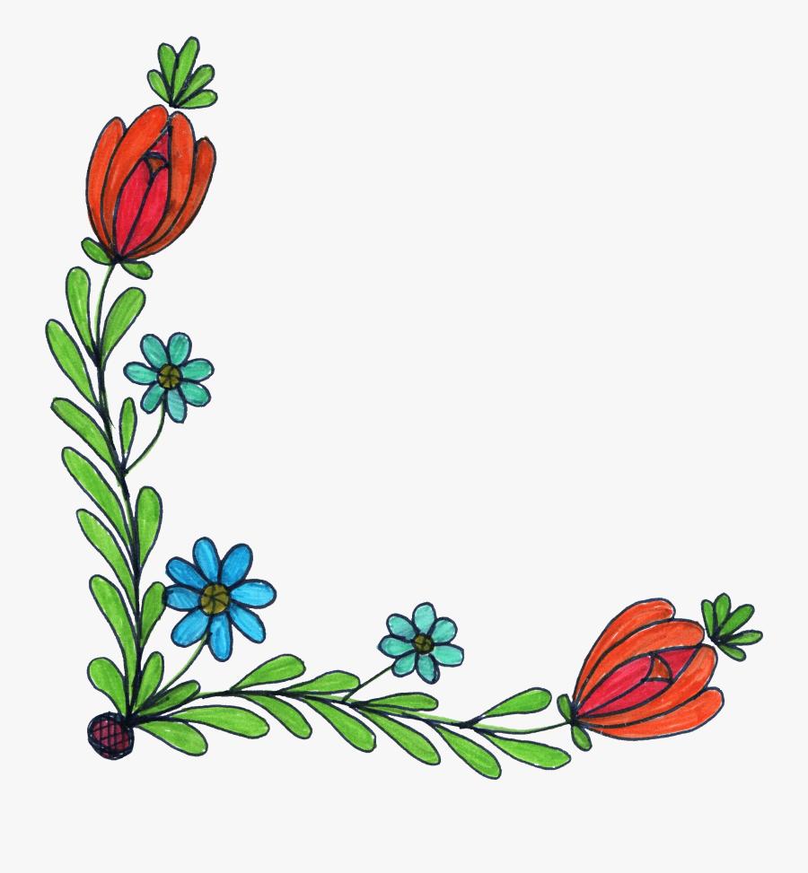 Clip Art Floral Corner Borders Clip Art - Png Flower Clipart Vintage, Transparent Clipart