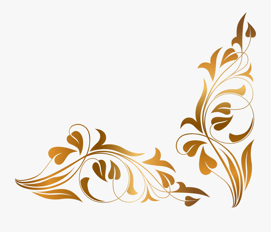Brown Floral Border Png High-quality Image - Floral Png, Transparent Clipart