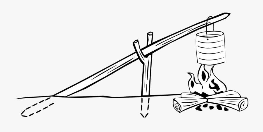 Cookout Clipart Campfire - Crane Fire In Scouting, Transparent Clipart