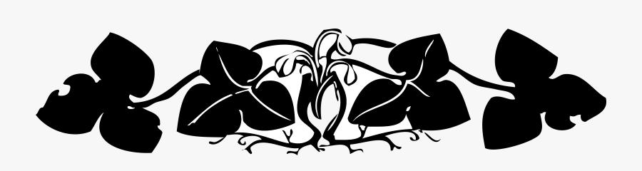 Floral Border Clip Arts - Line Floral Black And White Border, Transparent Clipart
