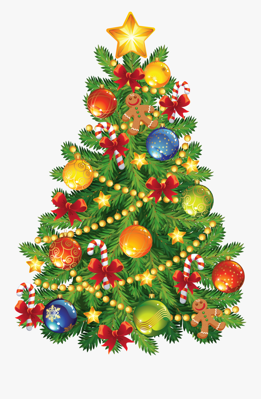 Christmas Trees Clipart - Merry Christmas Tree, Transparent Clipart