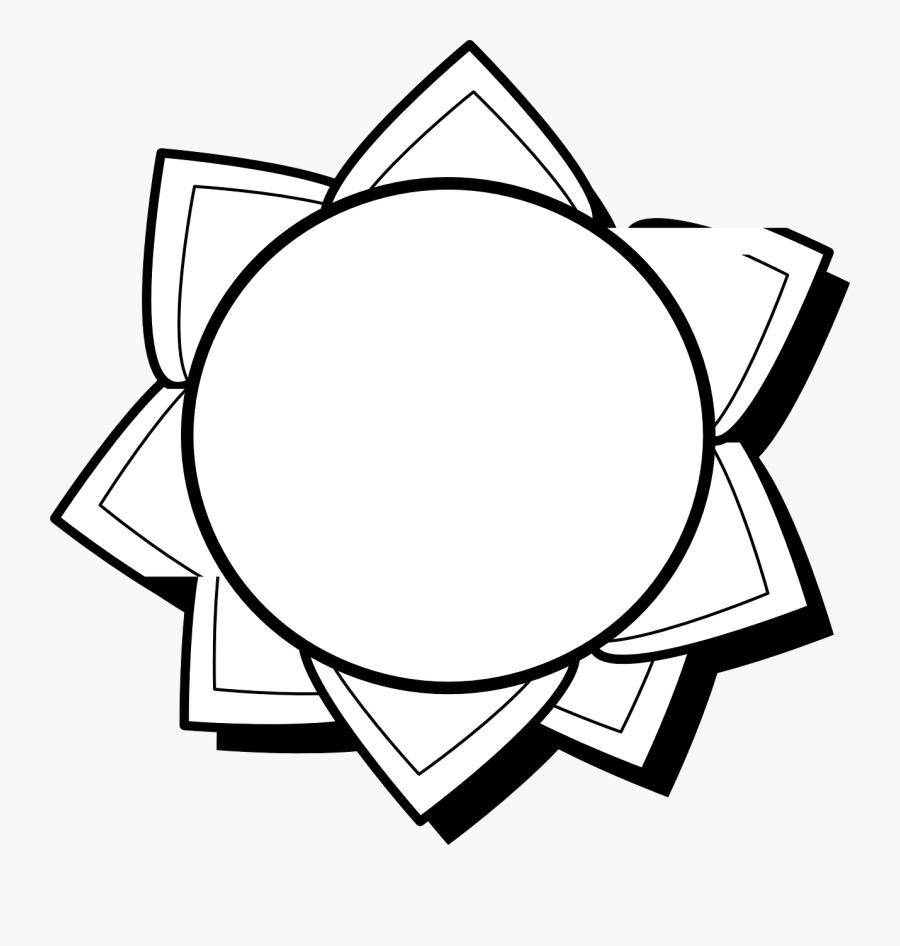 Clipart Designs Sun Black And White, Transparent Clipart
