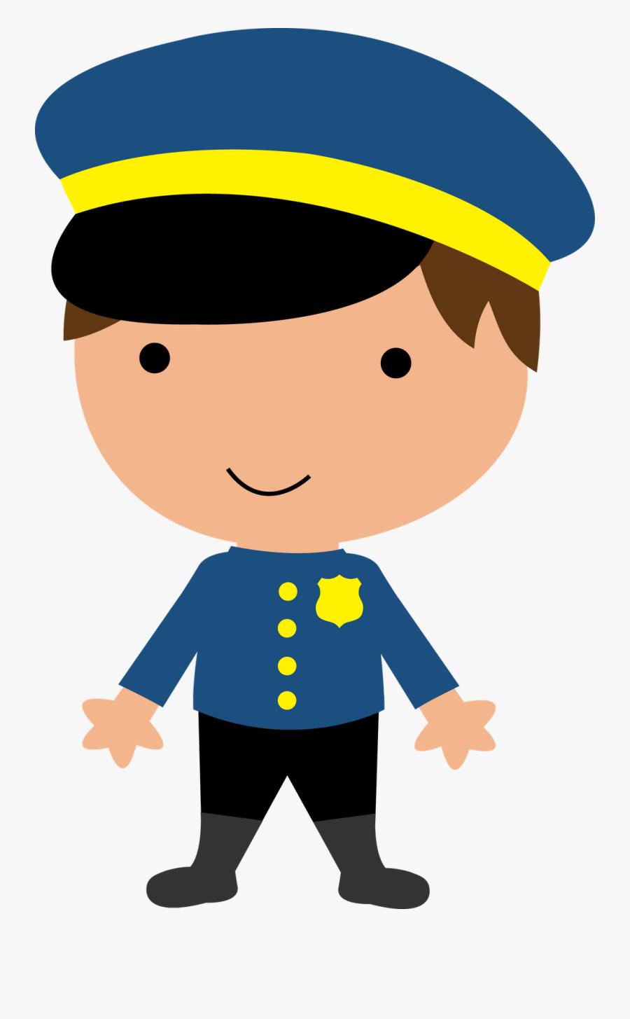 Police Clipart Boy - Policial Desenho Png, Transparent Clipart