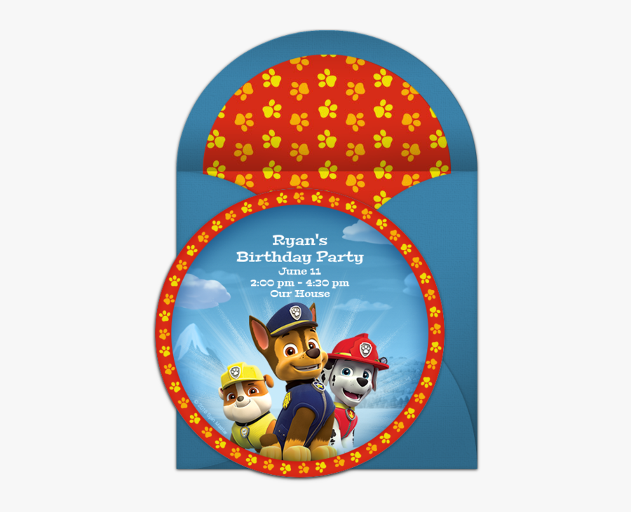 Editable Paw Patrol Invitation Free Transparent Clipart Clipartkey