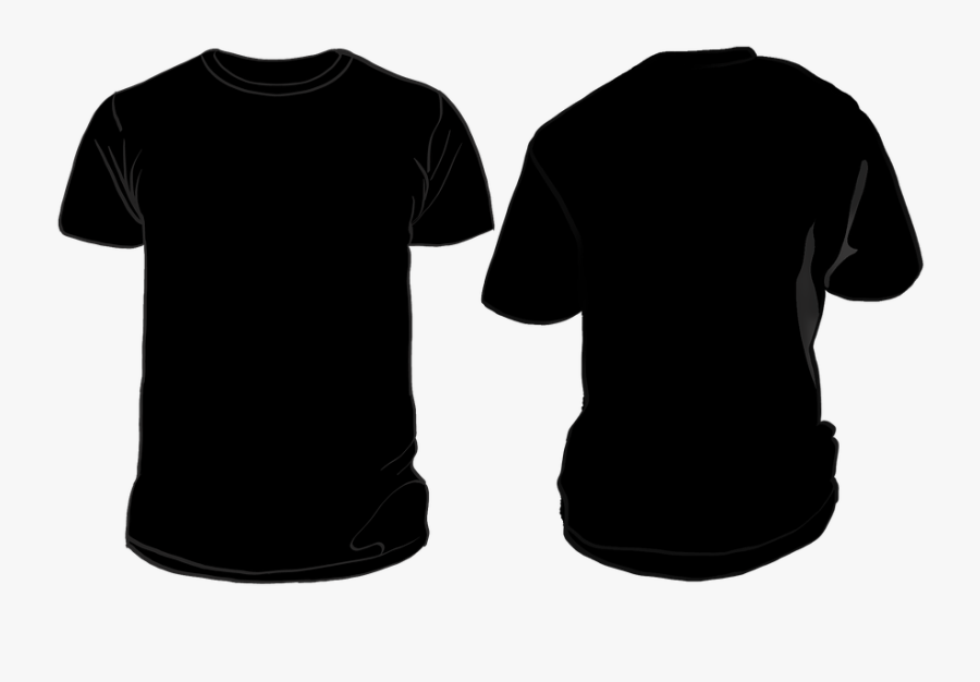 T Shirt Outline Vector 10, Buy Clip Art - Black Tshirt Front Back, Transparent Clipart