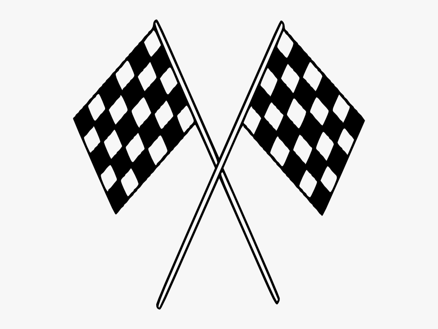 Big Checkered Flags Svg Clip Arts - Black And White Race Car Clipart, Transparent Clipart