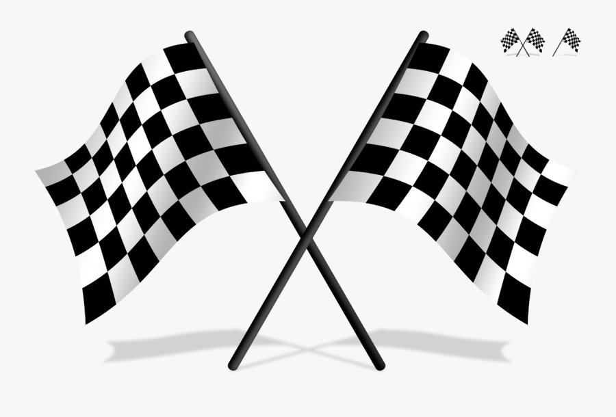 Transparent Flag Banner Clipart Black And White - Transparent Checkered Flag Png, Transparent Clipart