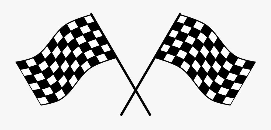 Checker, Flag, Race, Checkere - Race Car Flag Png, Transparent Clipart