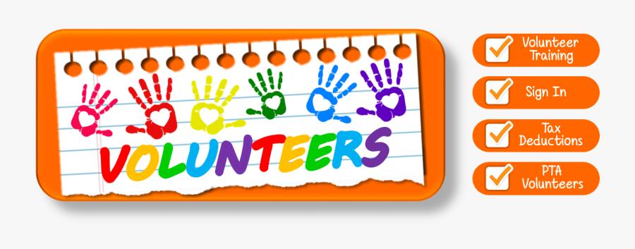 Volunteers - Pta Volunteers, Transparent Clipart