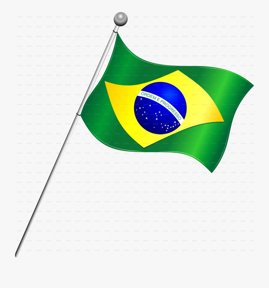 Transparent Checkered Flag Clipart - Brazil Flag Transparent Background, Transparent Clipart