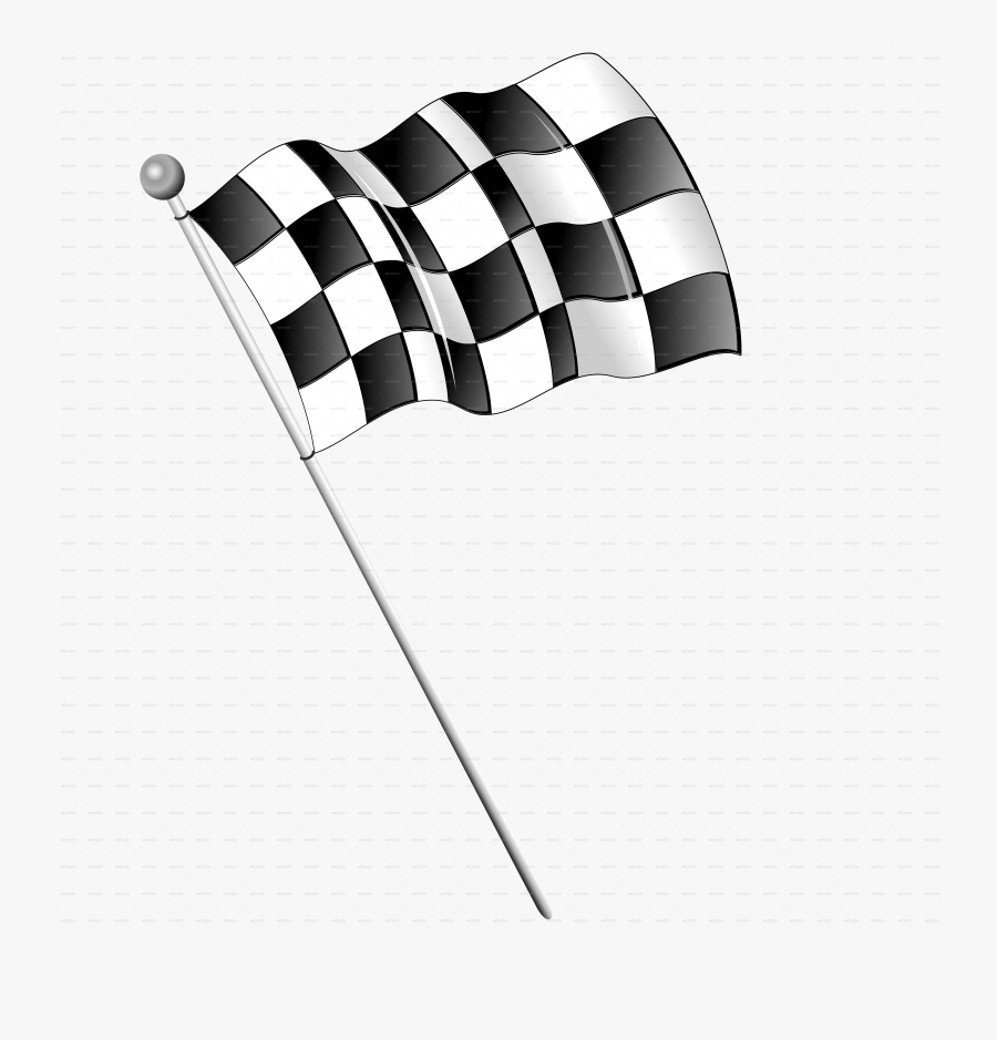 Checkered Drawing Race Flag - F1 Racing Car Png, Transparent Clipart