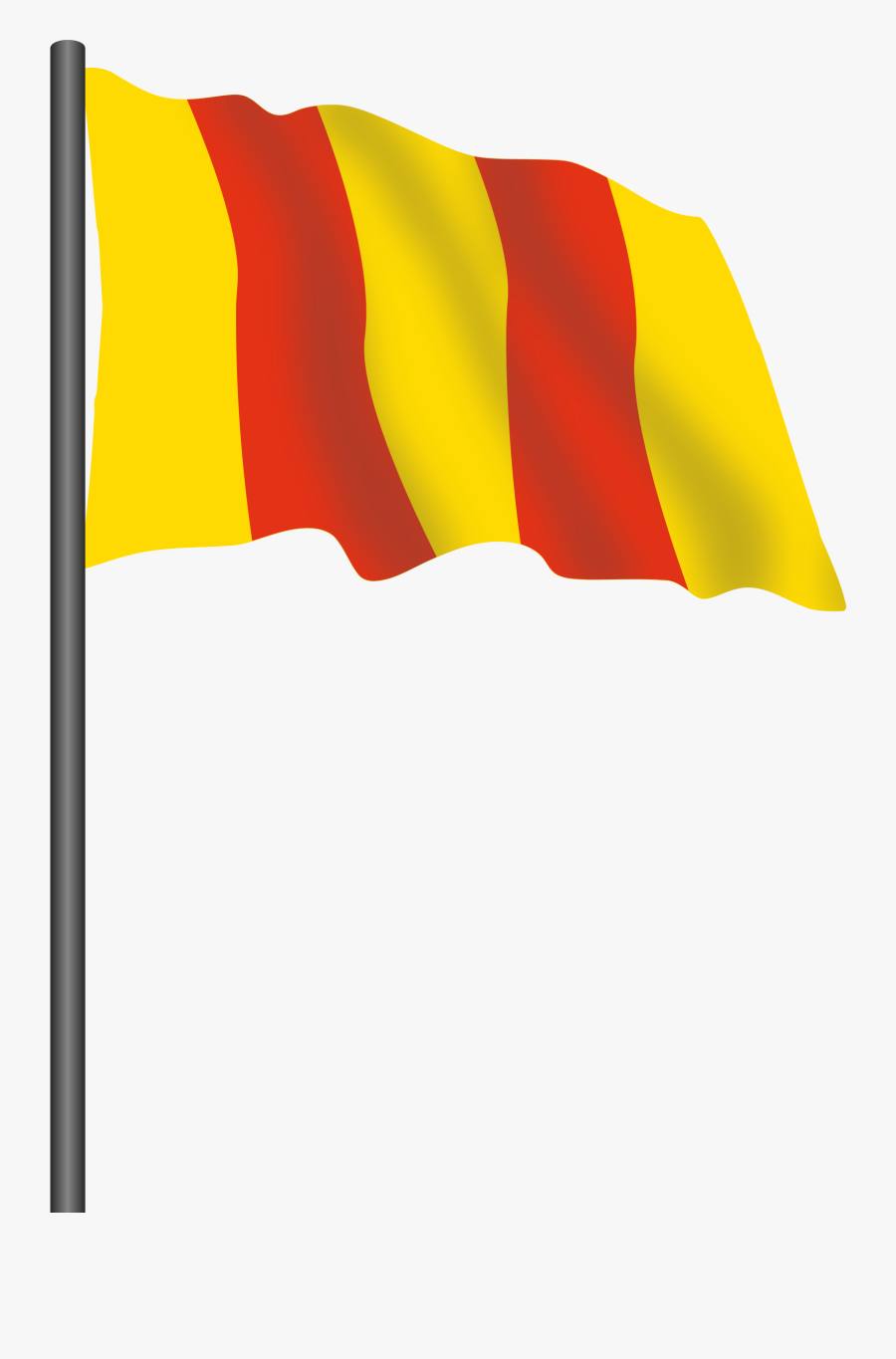 Motor Racing Flag - Red Yellow Flag Png, Transparent Clipart