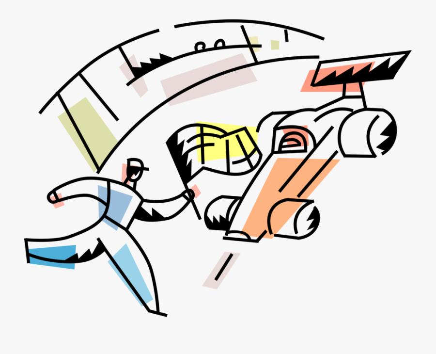 Vector Illustration Of Formula One Motorsports Race, Transparent Clipart
