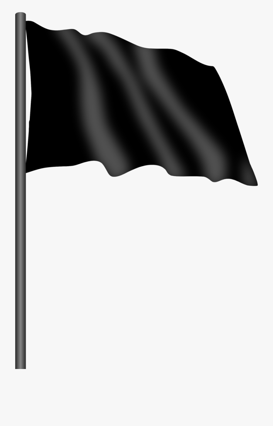 Motor Racing Flag - Black Flag Icon Png, Transparent Clipart