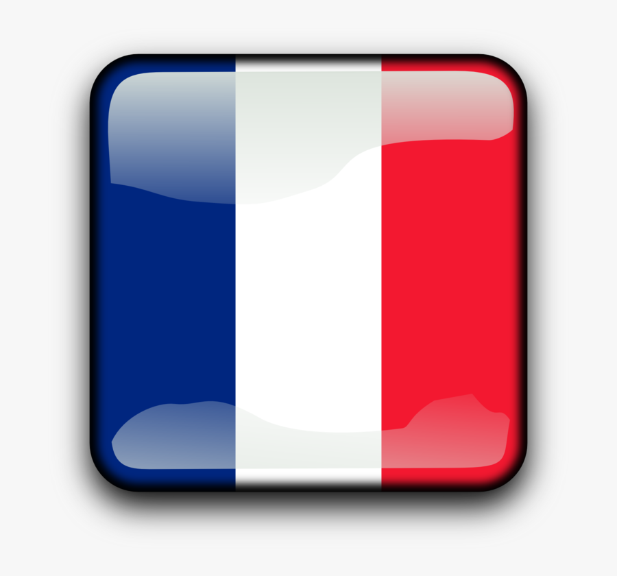 French Flag Square, Transparent Clipart