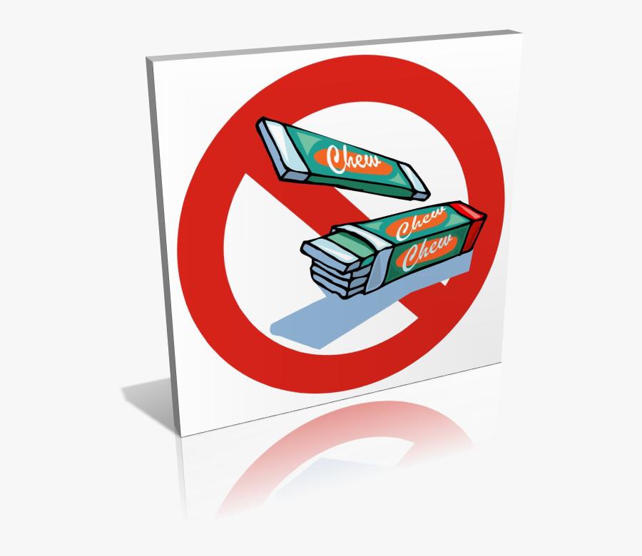Panneau Chewing-gum Interdit - Interdiction De Manger Du Chewing Gum, Transparent Clipart