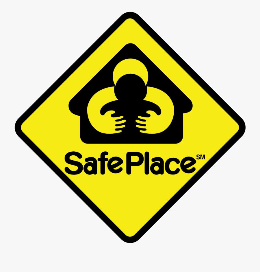 Clip Art Be Safe Clip Art - Safe Place Sign, Transparent Clipart