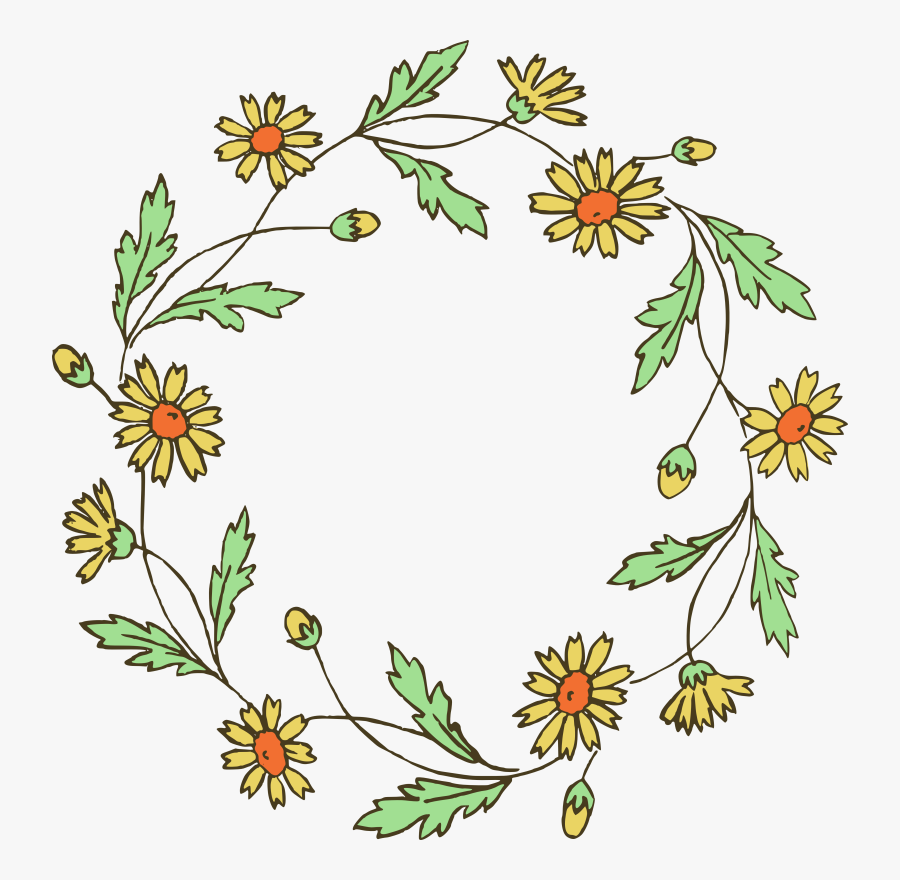 Hd Download Flower Wreath Clipart Transparent Background Simple