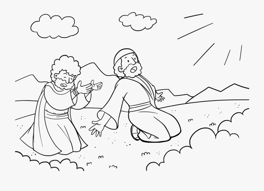 Emotion,art,text - Aaron Helps Moses Coloring Sheet, Transparent Clipart