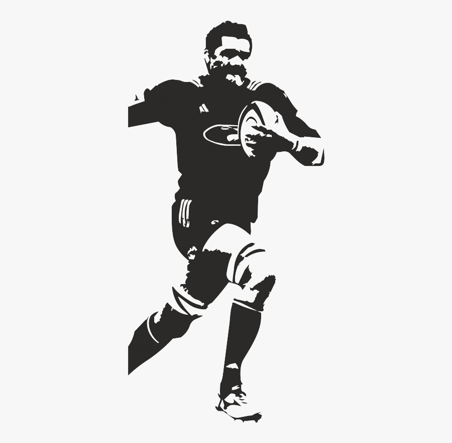 Protective Gear In Sports Rugby Union Rugby Player - Silhouette Rugby Player Png, Transparent Clipart