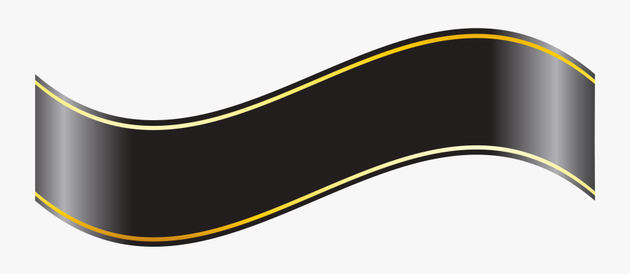 Black Banner Png Clipartu200b Gallery Yopriceville - Black And Gold Ribbon Banner Png, Transparent Clipart