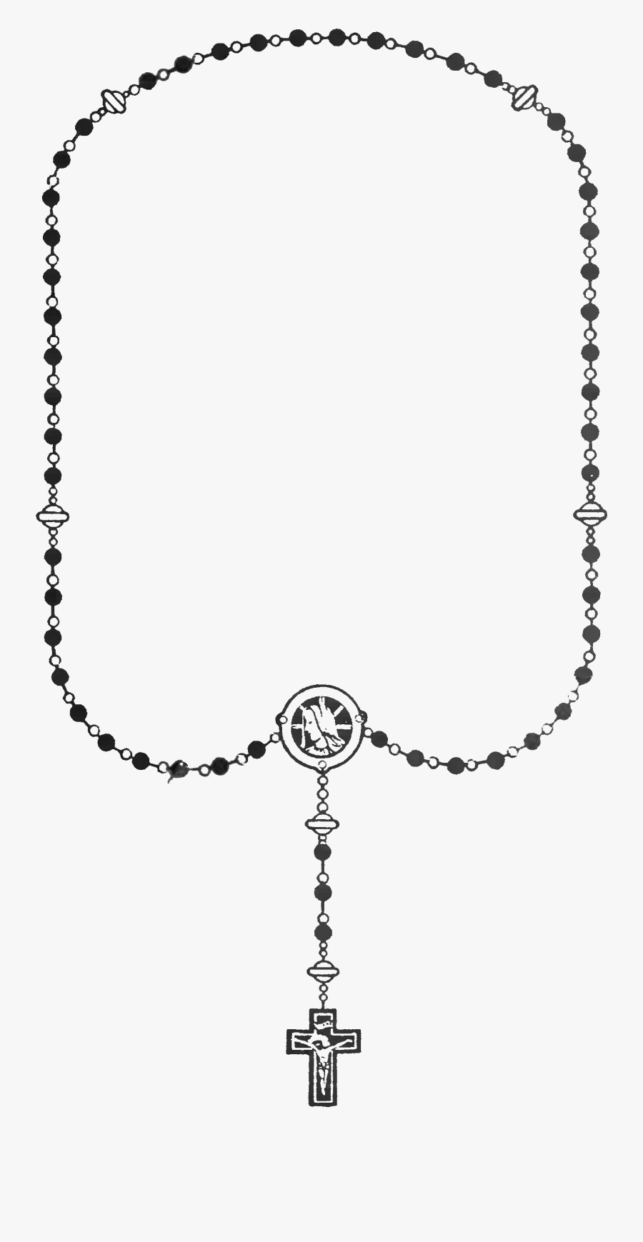 File - Rosary-black - Wikimedia Commons - Rosary, Transparent Clipart