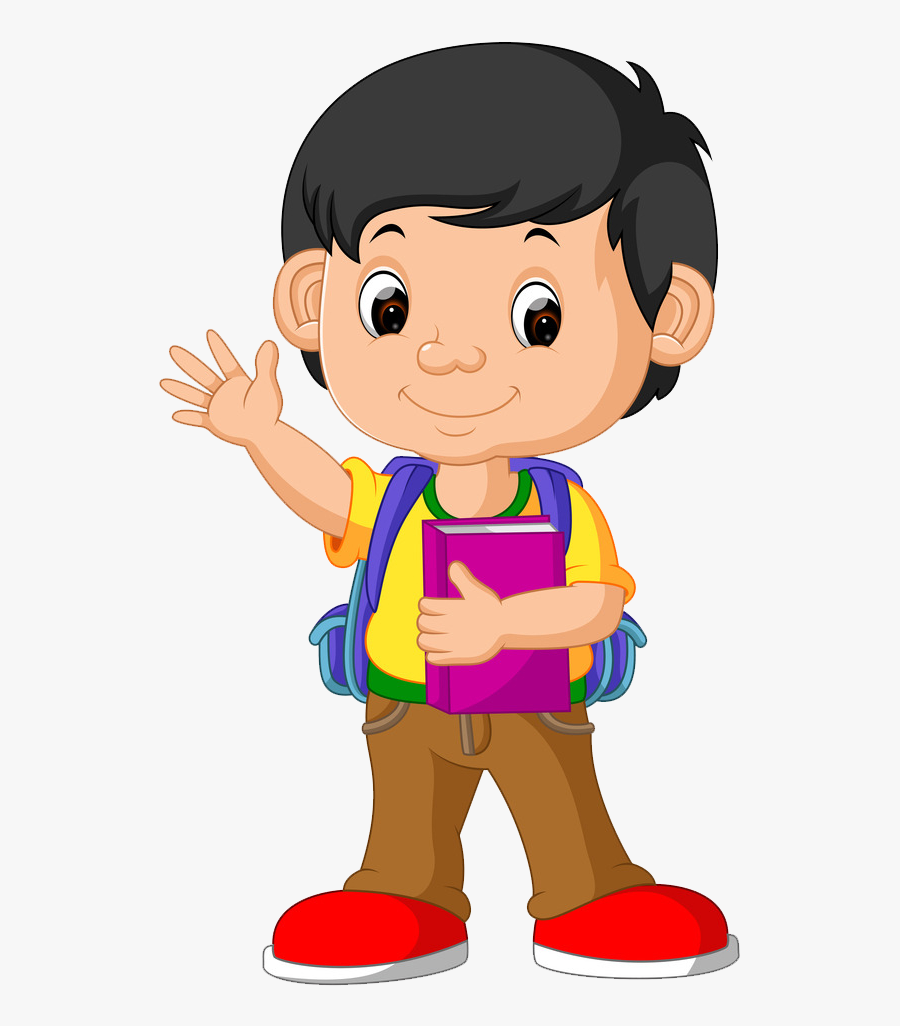 Clip Art Boy Png Transparent - Boy Going To School Clipart, Transparent Clipart