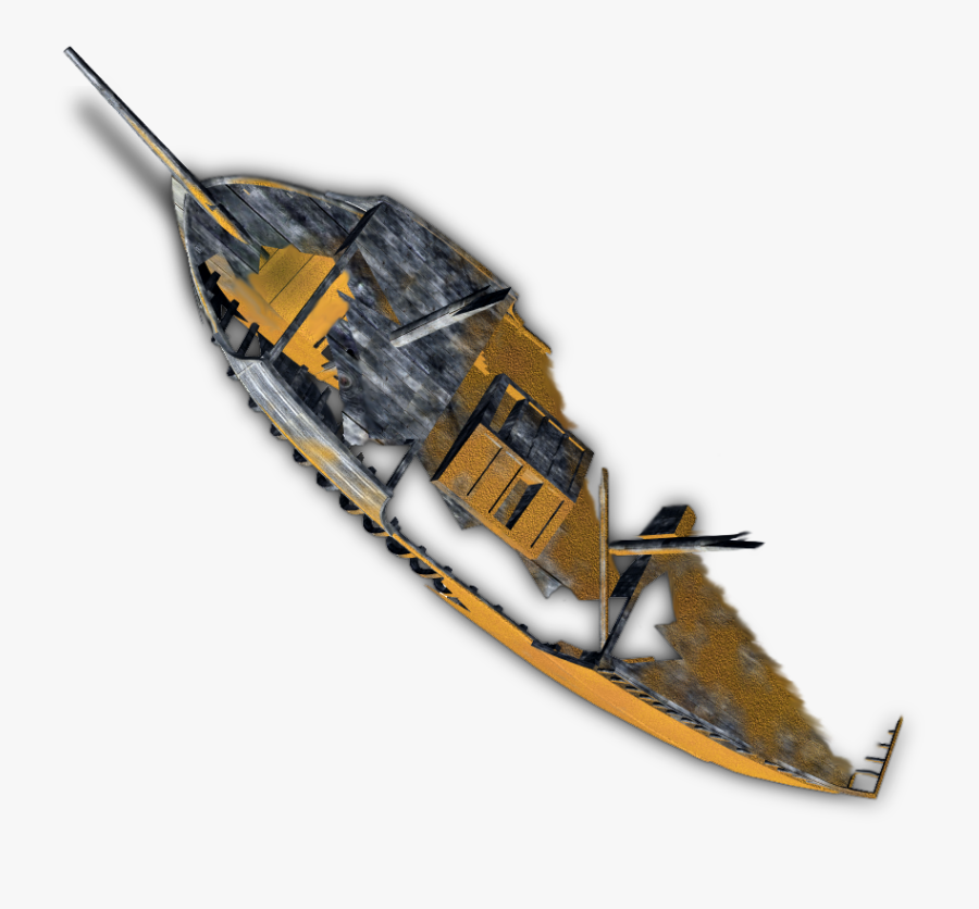 Transparent Boat - Dundjinni Shipwreck, Transparent Clipart