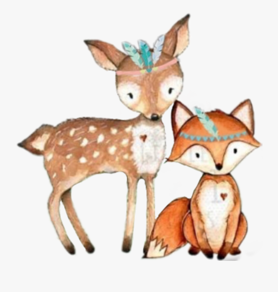 Tribal Clipart Woodland - Woodland Tribal Animals Png, Transparent Clipart