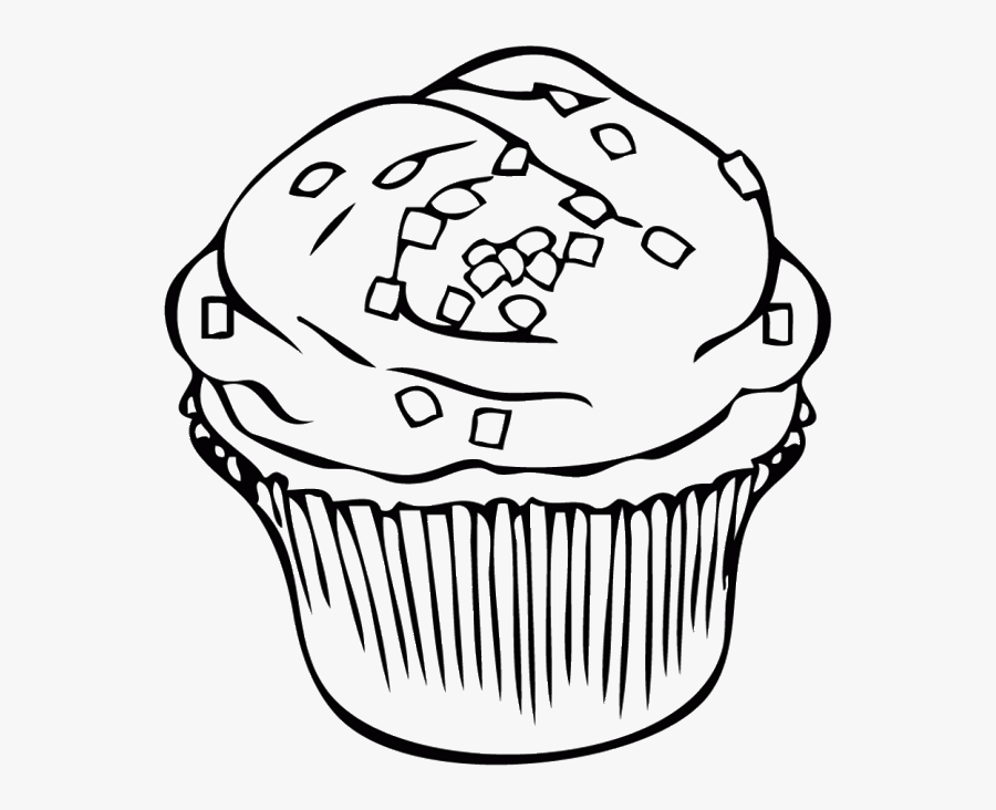 Chocolate Cookie At Getdrawings Clipart Black And White - Cupcake Printable Sprinkles Coloring Page, Transparent Clipart