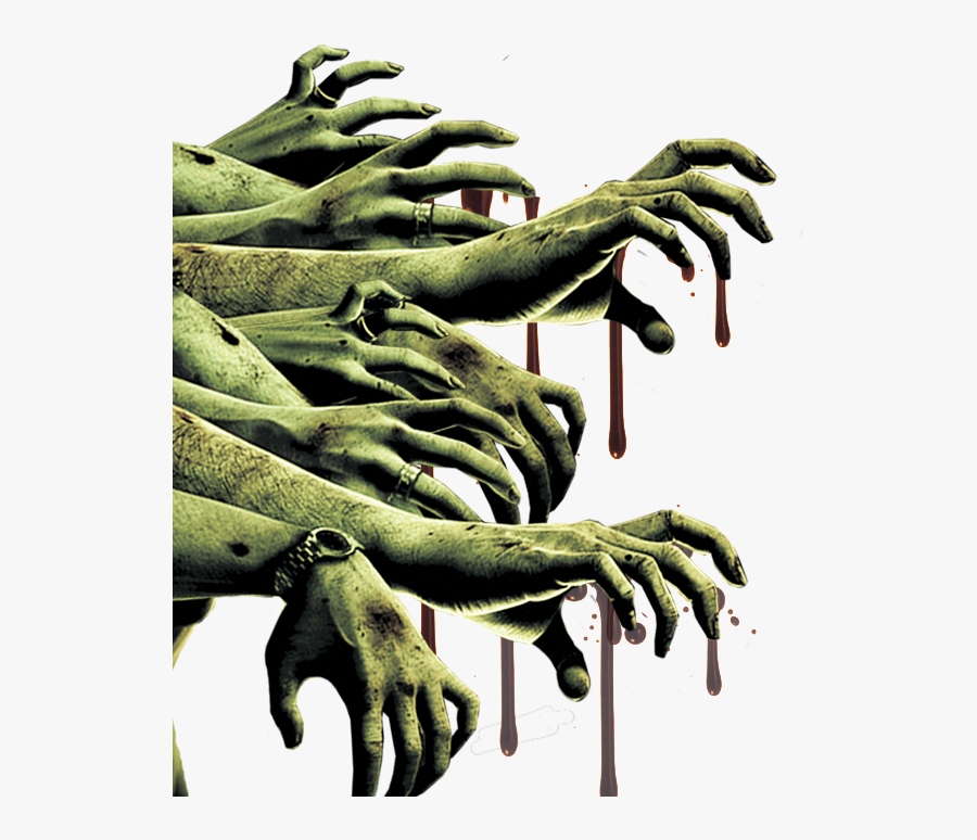 Zombie Hands And Arms, Transparent Clipart
