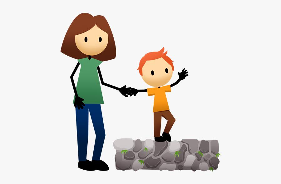 Preschool Clipart Walk - Balancing Kid Cartoon, Transparent Clipart