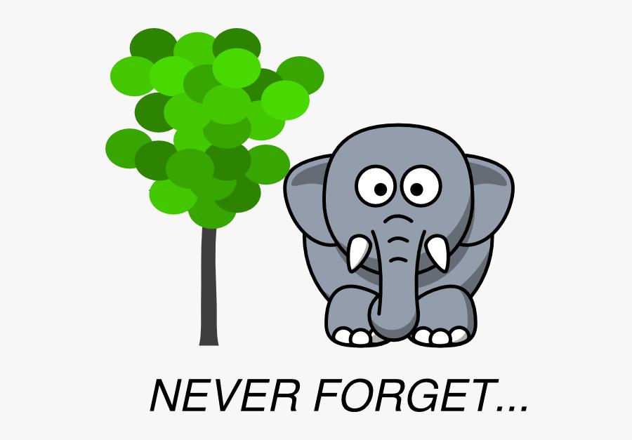Elephant Clipart Memory - Elephants Never Forget Cartoon ...