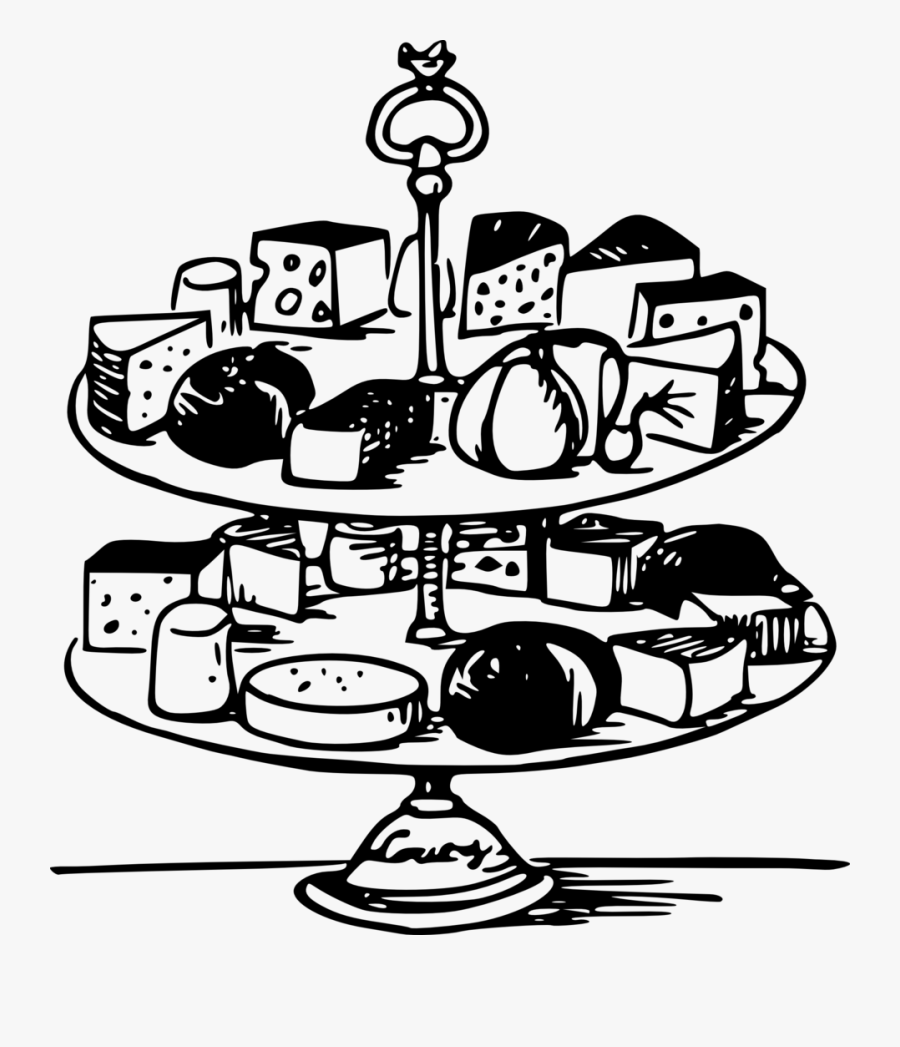 Lazy-lou - Cheese Tray Clipart Black And White, Transparent Clipart