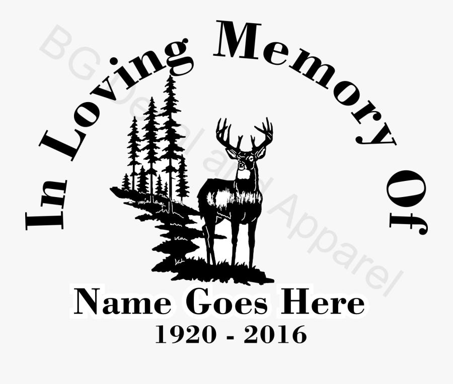 Loving Memory Deer Decals, Transparent Clipart