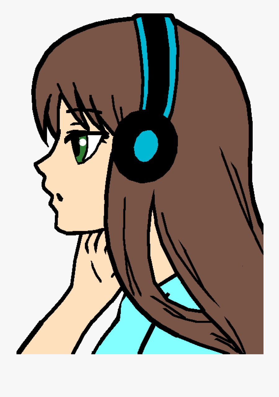Me As An Anime Girl By Nerdy-me - Anime Girl Easy Drawing, Transparent Clipart