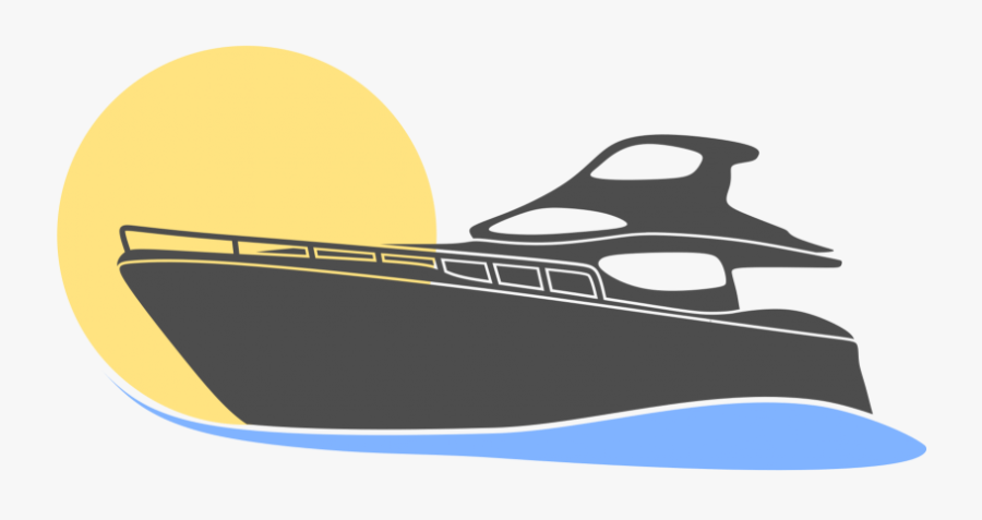 Yacht Motorboat Logo Vector Png - Yacht Vector Png Transparent, Transparent Clipart