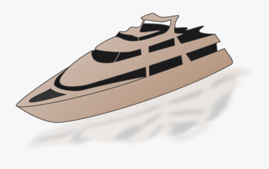 Luxury Yacht - Speedboat, Transparent Clipart