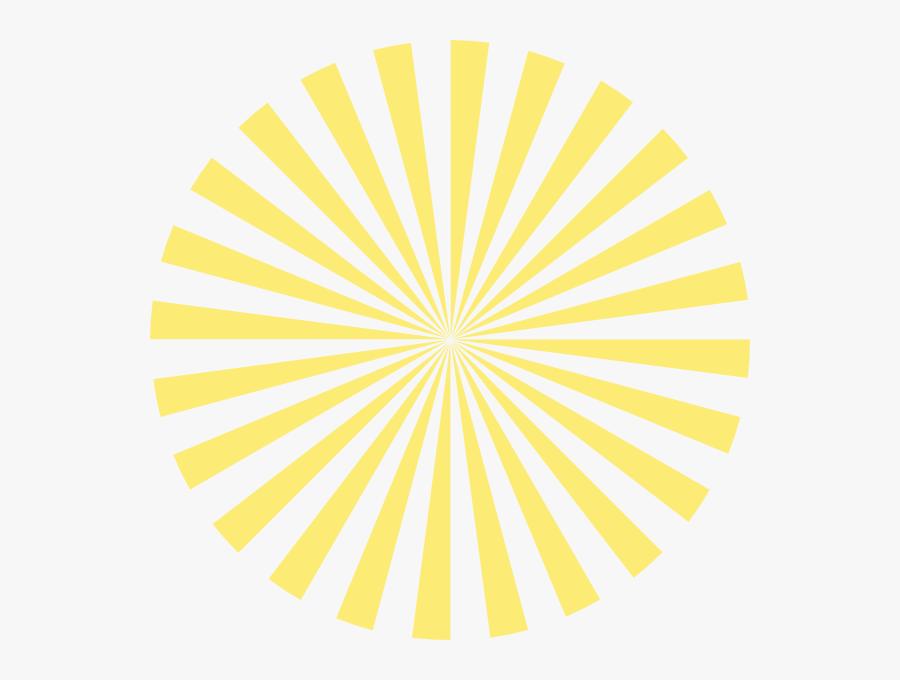 Pale Yellow Sunburst Clip Art - Things To Give Your Teacher Diy, Transparent Clipart