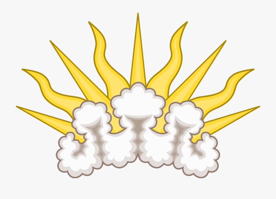 Sunburst Heraldry, Transparent Clipart