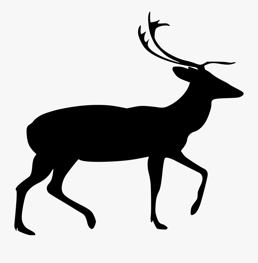 Svg Black And White Caribou Drawing Cute - Vector Buck Deer Head, Transparent Clipart