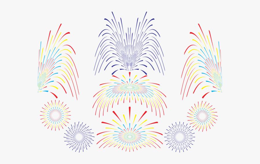 Fireworks Vector Set - Fogo De Artificio Transparente Png, Transparent Clipart
