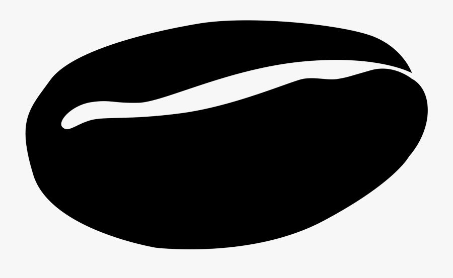 File Coffee Bean Symbol Clipart Black And White Library - Coffee Bean Clipart Black, Transparent Clipart