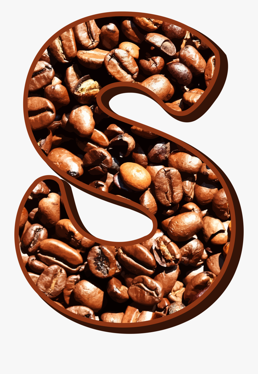 Food,jamaican Blue Mountain Coffee,coffee - Letters S Out Of Coffee Beans, Transparent Clipart